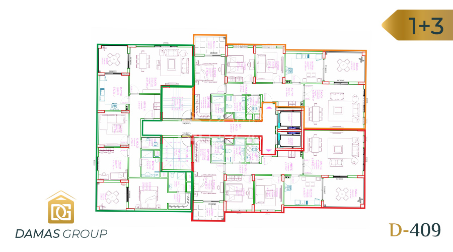 Damas Project D-409 in Trabzon - Floor Plan 02