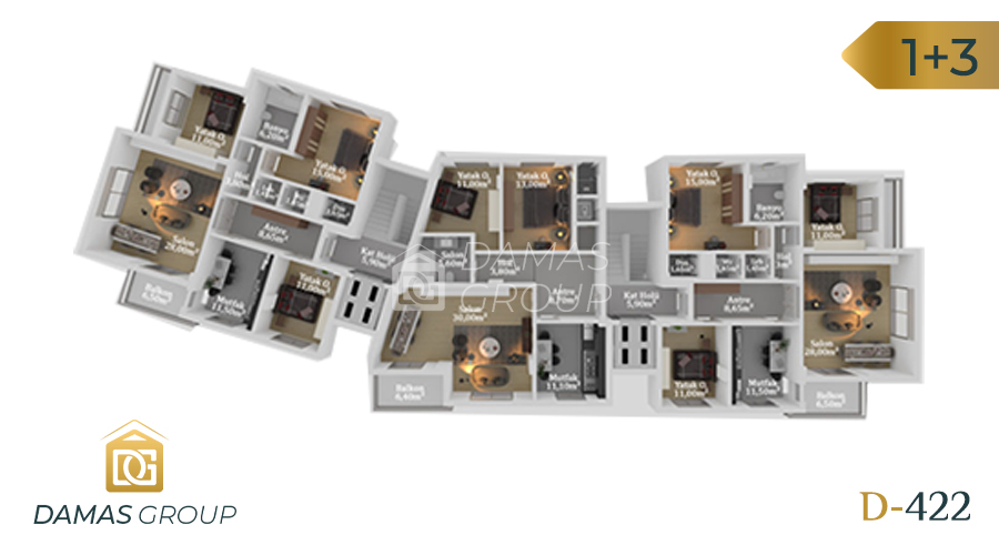Damas Project D-422 in Trabzon - Floor Plan  01