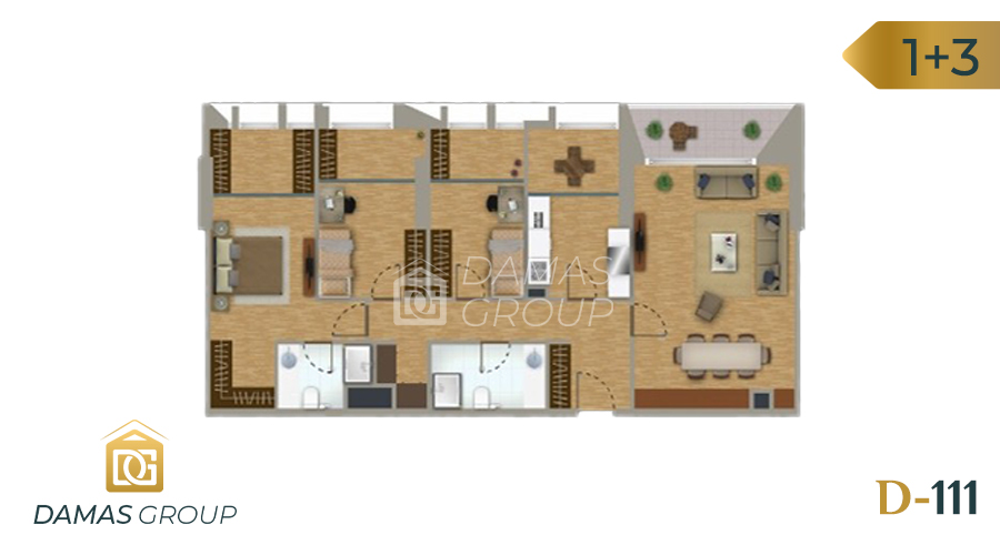 Damas Project D-111 in Istanbul - Floor Plan 04