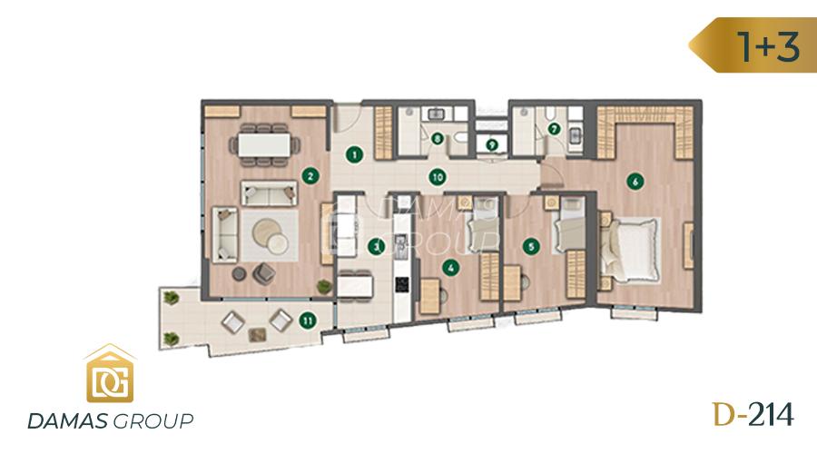 مجمع داماس 214 في اسطنبول  - صورة مخطط 04