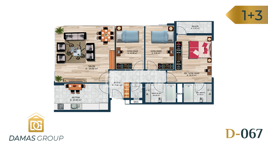 Damas Project D-067 in Istanbul - Floor Plan 02