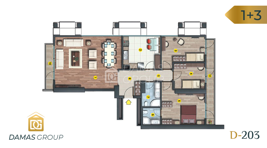 Damas Project D-203 in Istanbul - Floor Plan 04