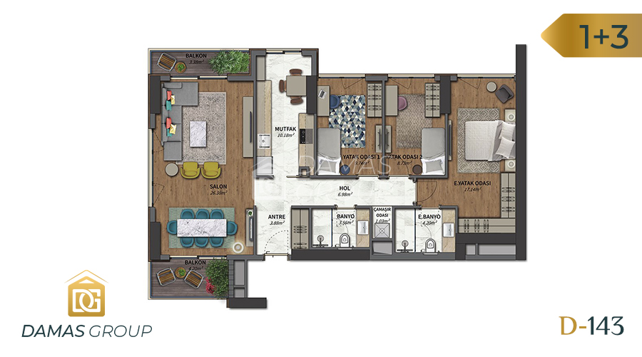 Damas Project D-143 in Istanbul - Floor Plan 03