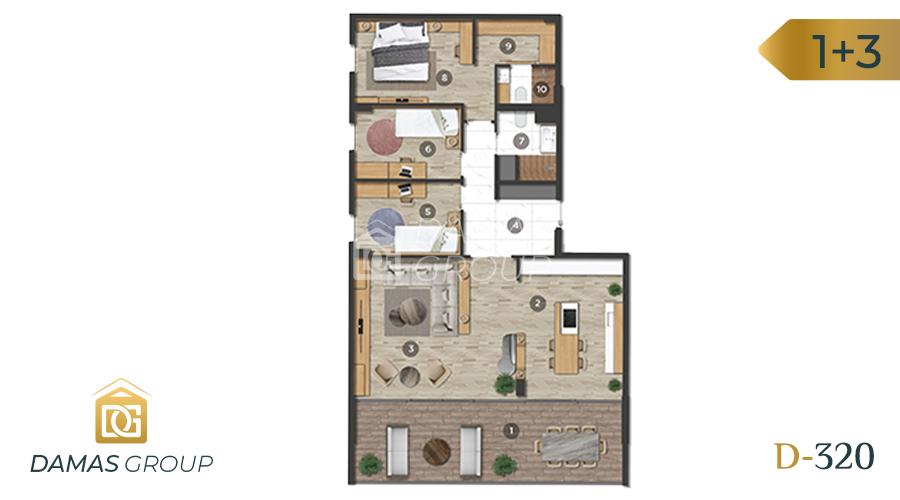 Damas Project D-320 in Bursa - Floor Plan 01