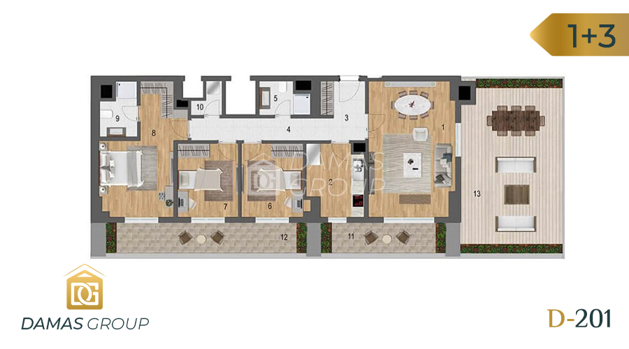 Damas Project D-201 in Istanbul - Floor Plan 05