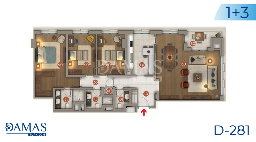 Damas Project D-281 in Istanbul - Floor plan picture 03