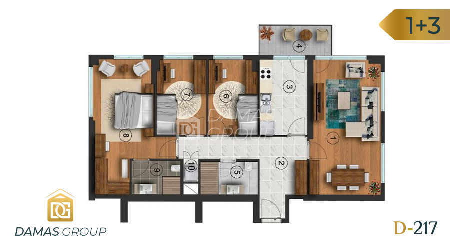 Damas Project D-217 in Istanbul - Floor Plan 03