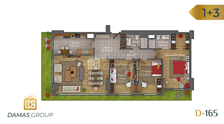 Damas Project D-165 in Istanbul - Floor Plan 04