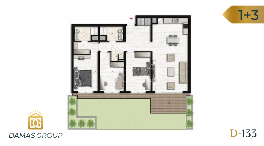 Damas Project D-133 in Istanbul - Floor Plan 05