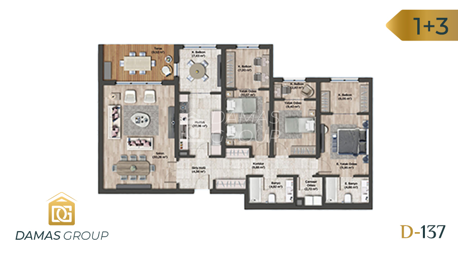 Damas Project D-137 in Istanbul - Floor Plan 03