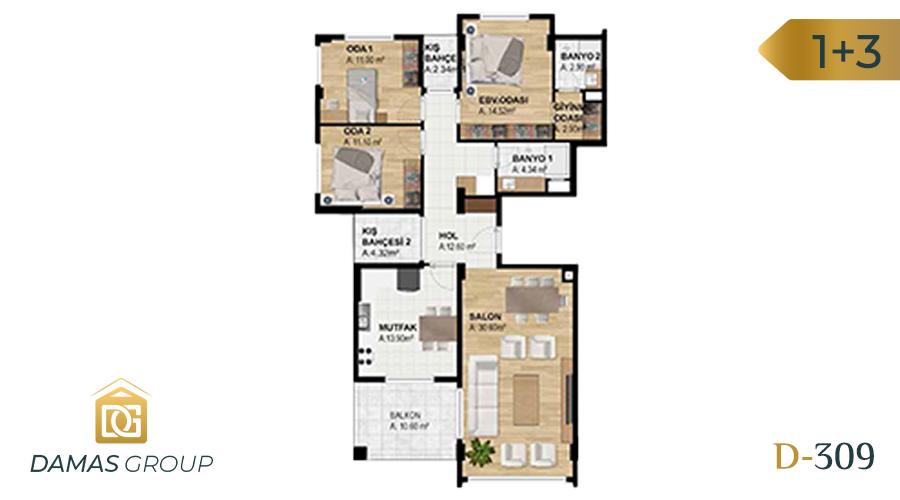 مجمع داماس 309 في بورصة  - صورة مخطط 02