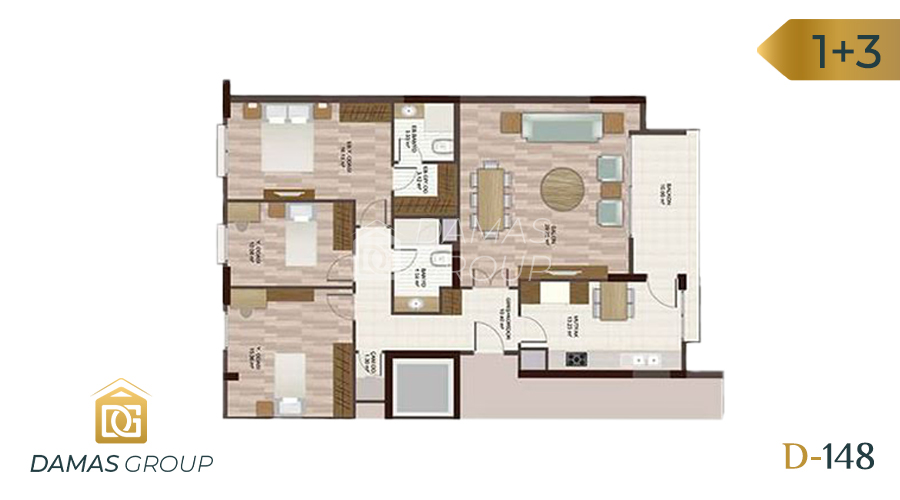 Damas Project D-148 in Istanbul - Floor Plan 03
