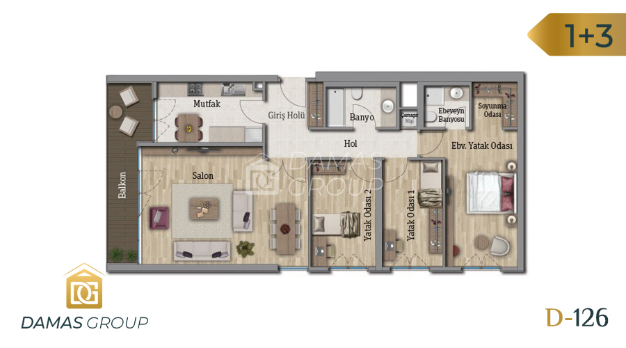 Damas Project D-126 in Istanbul - Floor Plan 03