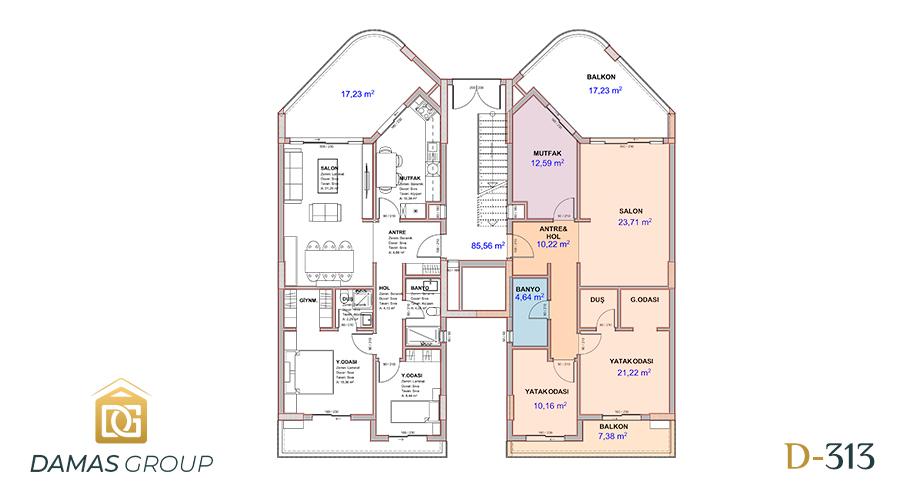 مجمع داماس 313 في بورصة  - صورة مخطط 03