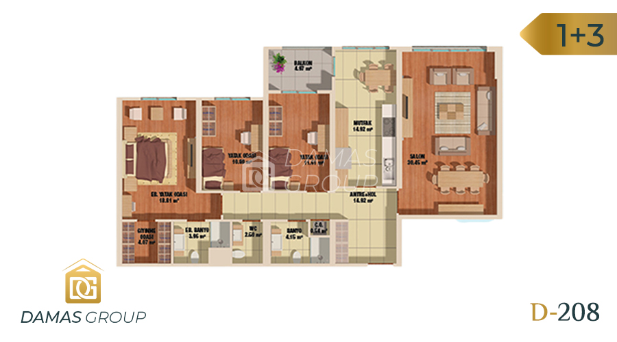 Damas Project D-208 in Istanbul - Floor Plan 03