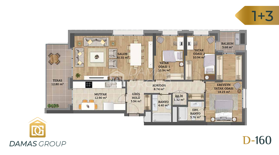 Damas Project D-160 in Istanbul - Floor Plan 04