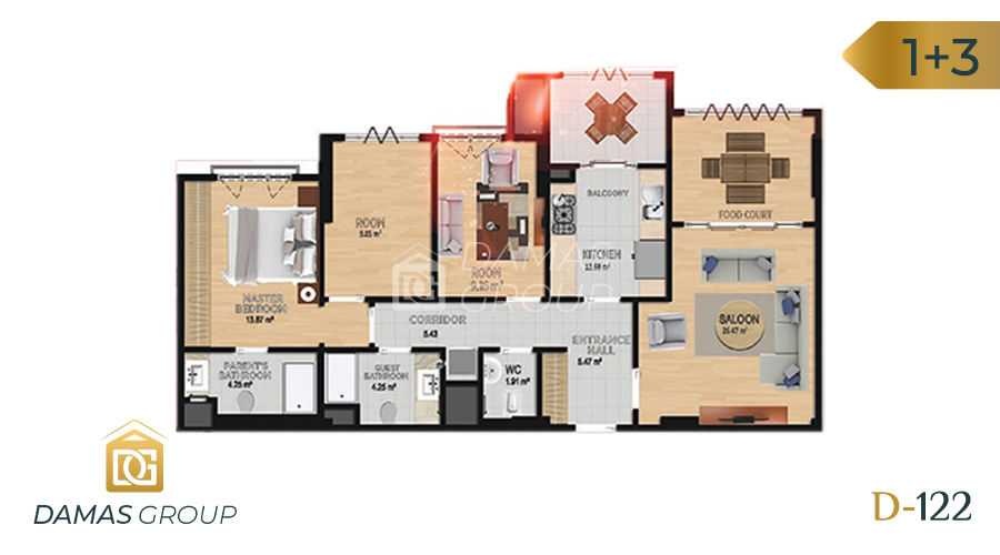 Damas Project D-122 in Istanbul - Floor Plan 04