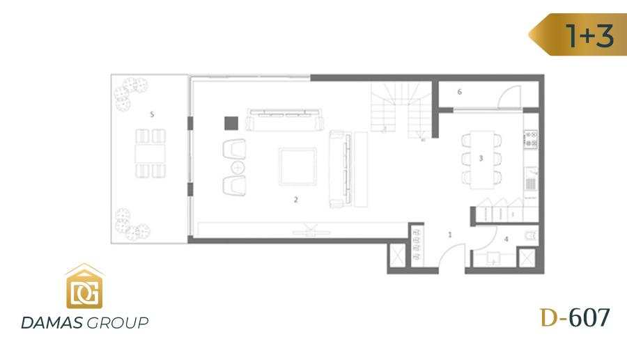 مجمع داماس 607 في انطاليا  - صورة مخطط 02
