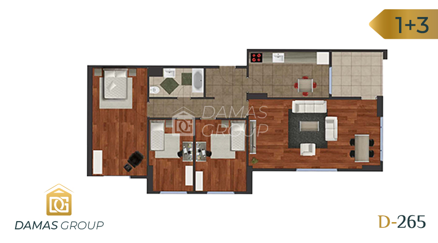 Damas Project D-265 in Istanbul - Floor Plan 02