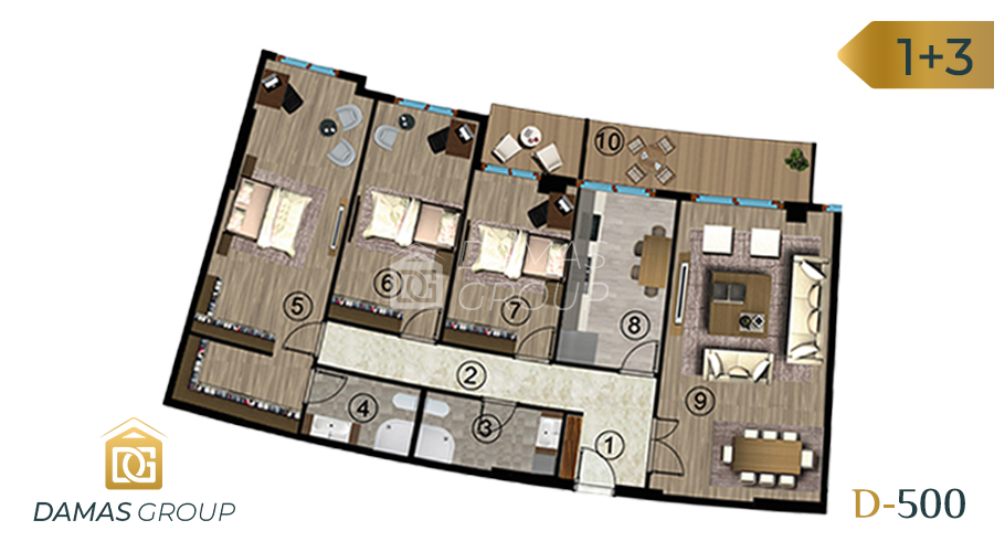 مجمع داماس 500 في كوجالي  - صورة مخطط 05