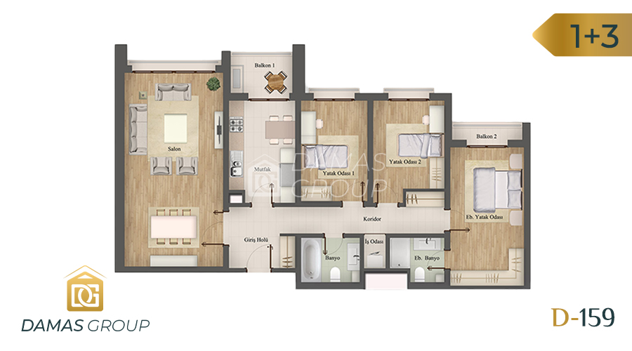 Damas Project D-159 in Istanbul - Floor Plan 04