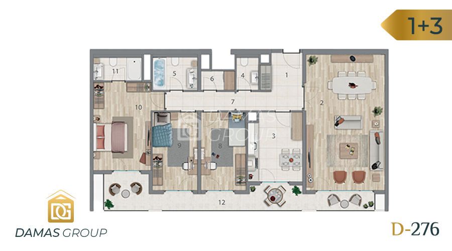 Damas Project D-276 in Istanbul - Floor Plan 04