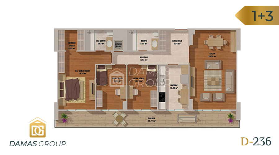 Damas Project D-236 in Istanbul - Floor Plan 03