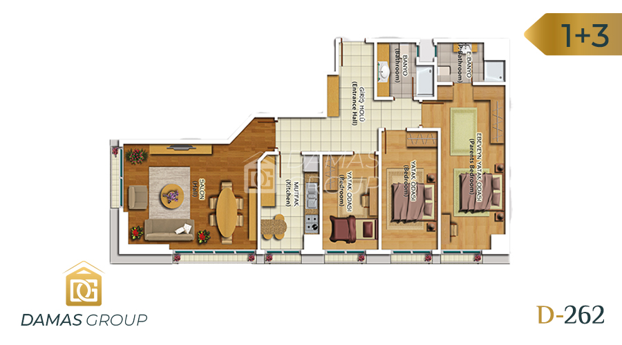 Damas Project D-262 in Istanbul - Floor Plan 05