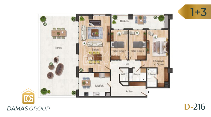 Damas Project D-216 in Istanbul - Floor Plan 03