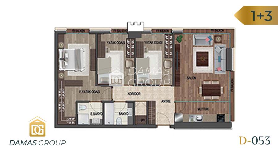 مجمع داماس 053 في اسطنبول  - صورة مخطط 05