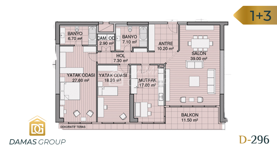 Damas Project D-296 in Istanbul - Floor Plan 03
