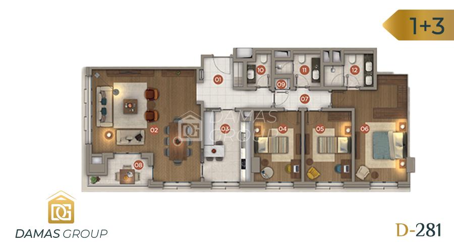 Damas Project D-281 in Istanbul - Floor Plan 04