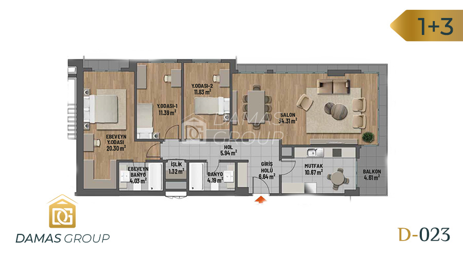 Damas Project D-023 in Istanbul - Floor Plan 04