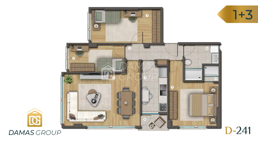 Damas Project D-241 in Istanbul - Floor Plan 03