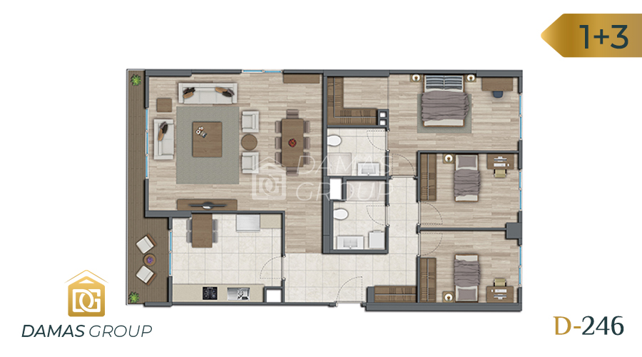 Damas Project D-246 in Istanbul - Floor Plan 03