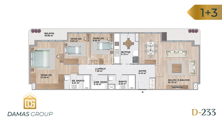 Damas Project D-233 in Istanbul - Floor Plan 04