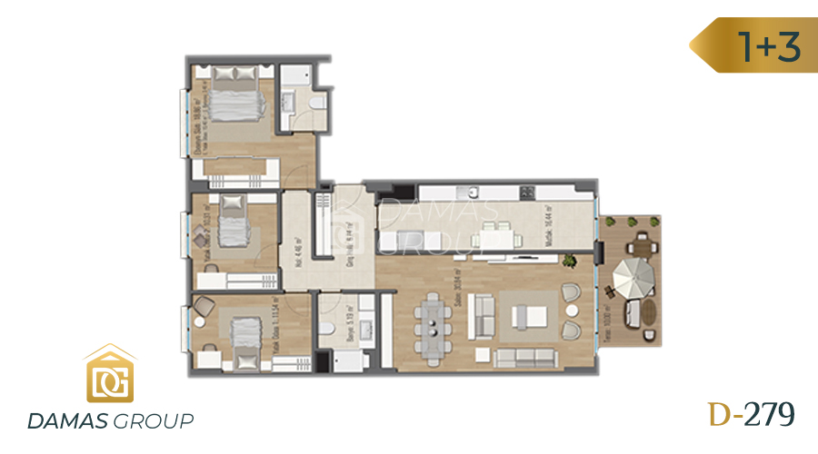 Damas Project D-279 in Istanbul - Floor Plan 04
