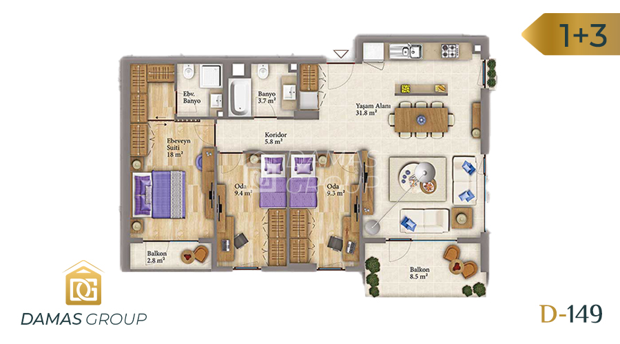 Damas Project D-149 in Istanbul - Floor Plan 03