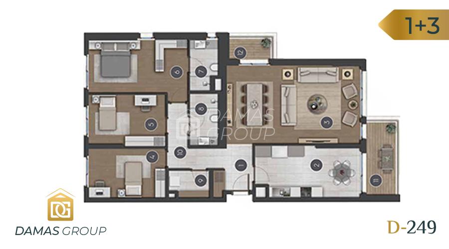 مجمع داماس 249 في اسطنبول  - صورة مخطط 04