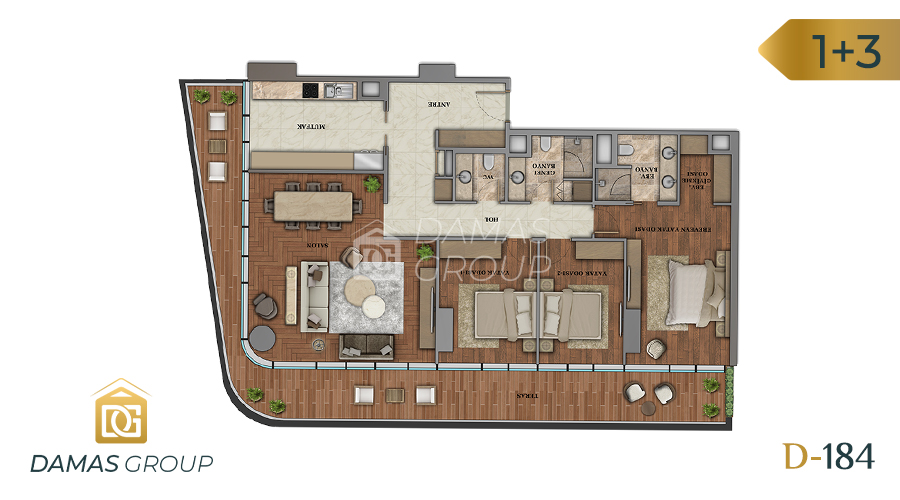 Damas Project D-184 in Istanbul - Floor Plan 03