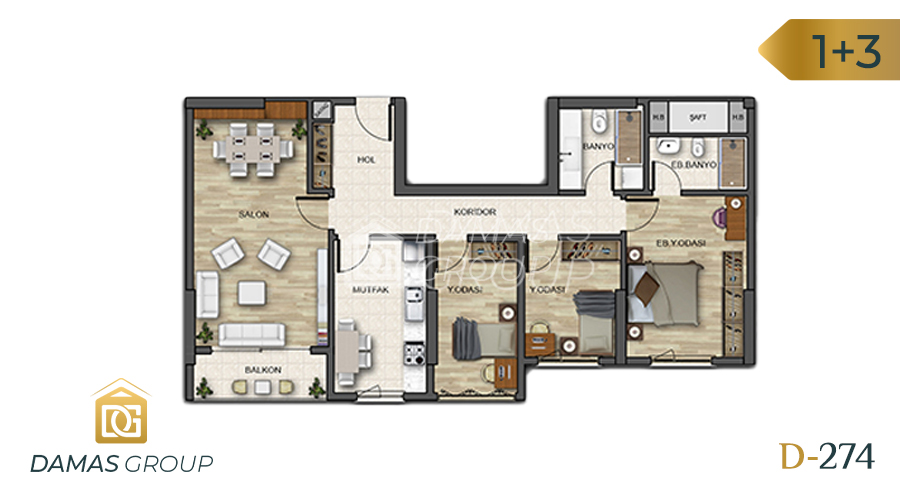 Damas Project D-274 in Istanbul - Floor Plan 05
