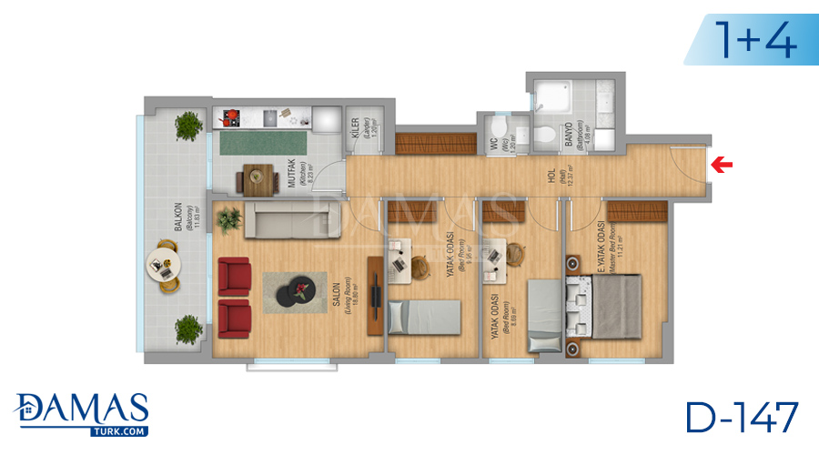 Damas Project D-147 in Istanbul - Floor plan picture 03