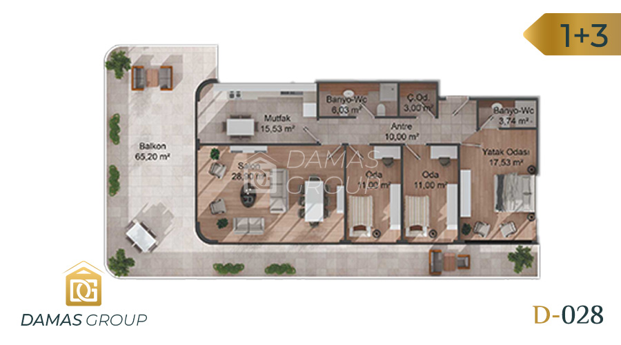 Damas Project D-028 in Istanbul - Floor Plan 04