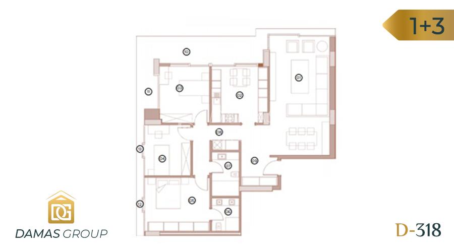 Damas Project D-318 in Bursa - Floor Plan 03