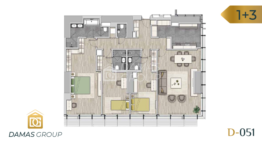 Damas Project D-051 in Istanbul - Floor Plan 03