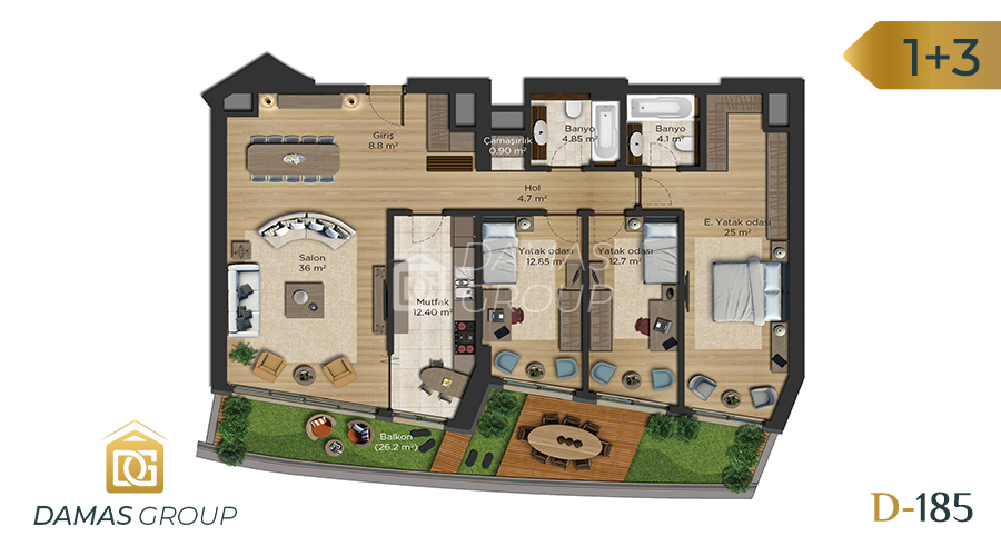 Damas Project D-185 in Istanbul - Floor Plan 04