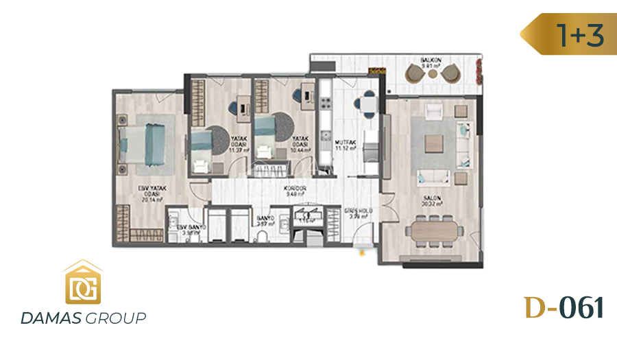 Damas Project D-061 in Istanbul - Floor Plan 03