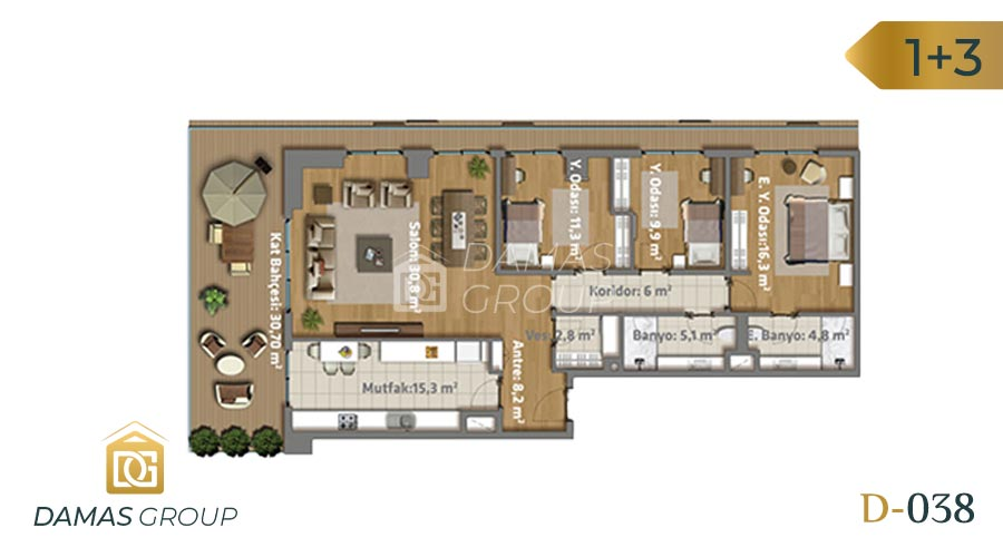 Damas Project D-038 in Istanbul - Floor Plan 03