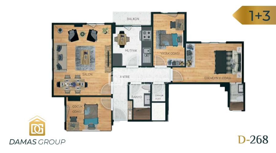 Damas Project D-268 in Istanbul - Floor Plan 04