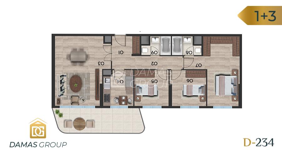 Damas Project D-234 in Istanbul - Floor Plan 04